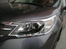 Chrome Front Headlights Head Light Lamp Cover Trim For Honda CRV CR-V 2012-2014