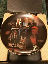 New ListingCollector Plate Norman Rockwell Evening's Ease Knowles China Co.