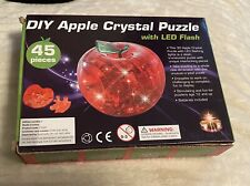 BRAND NEW BOXED DIY APPLE CRYSTAL PUZZLE 45 PIECES WITH LED LIGHT