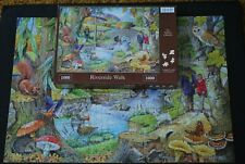 HOP HOUSE OF PUZZLES 1000 PIECE JIGSAW RIVERSIDE WALK by RAY CRESSWELL - UNUSUAL