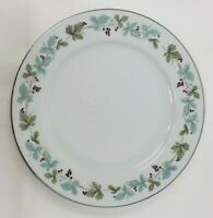 Vintage Fine China 6701 Dinner Plates Lot of 4 Blue Green Grapevine Japan