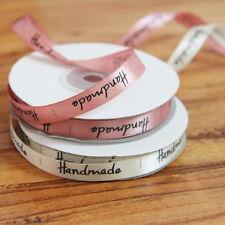 Handmade Print Satin Ribbon Baking Gift Packing DIY Sewing Labels 1cm*22m Roll