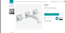 2 Vado Geo 3 Hole Basin Mixer With 220Mm Spout Wall Mounted - Geo-109/220-C/P