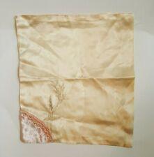 """Antique Vintage Satin Velvet Textile Doll Bed Crafts Diy Junk Journals 9x10"""""""