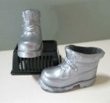 Mattel BARBIE doll Ken as the TIN MAN Wizard of Oz SILVER BOOTS ONLY for clothes
