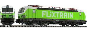 PIKO Expert 59196 193 813-3 Flixtrain Livery Green, Huts White, 2 Pantograf