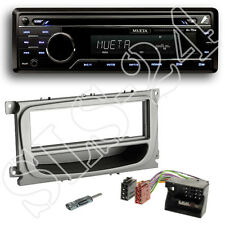 Mueta A4 CD USB SD Radio + Ford C-MAX ab 07 DIN Blende silber Quadlock Adapter