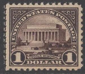 U.S.:#571  1$ LINCOLN MEMORIAL OG MINT XF NH // CV $85