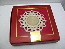 Lenox Snow Lights Tea Light Candle Holder PORCELAIN Snowflake Shimmer Christmas