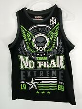 No Fear Tank Top Tee Crewneck Black Green No Limit Extreme Men's Size Small