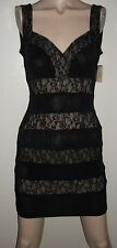 NWT MONAMEL LOS ANGELES BLACK LYCRA SPANDEX & LACE DRESS~SIZE S~SEXY
