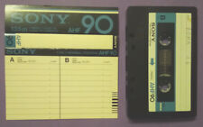 MC Musicassetta SONY AHF 90 vintage compact cassette audio tape USATA no basf
