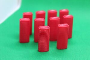 10x Original Monopoly Here and Now Red Hotel Spare Parts Replacements