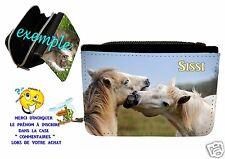 portefeuille cheval  personnalisable avec prénom réf 08