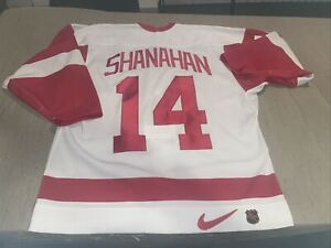 Adult 48 Detroit Red Wings Brendan Shanahan Authentic Nike Jersey Clean White