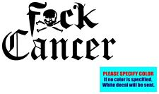 "F_CK CANCER #91 Vinyl decal sticker Graphic Die Cut Car Truck Window Bumper 7"""