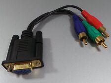 Adapter Kabel VGA Buchse auf 3x Cicnch RGB YUV    #e534