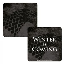 GAME OF THRONES STARK WINTER IS COMING LENTICULAR TABLE DRINKS COASTER MAT