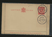 Great Britain letter card Army post office cancel Apl0710