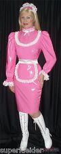 Deluxe vestido Sissy bondage Maid delantal pintura de satén tras mass crossdresser (mszl 009)
