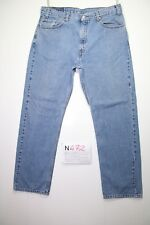 Levi's 505 (Cod.N472) Tg.52 W38 L30 boyfriend  jeans usato