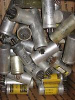 Plug-in Type Electrolytic Capacitors, used