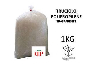 TRUCIOLO POLIPROPILENE TRASPARENTE 1KG PAGLIA SINTETICA per ceste natalizie