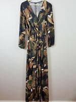 SHEIKE | Womens Floral Print Maxi Dress  [ Size AU 8 or US 4  ]