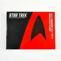 Star Trek USS ENTERPRISE NCC 1701 D Dedication Plaque Replica Eaglemoss