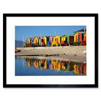 PAINTING SILAS REDCAR YORKSHIRE BEACH ENGLAND SEASIDE FRAMED ART PRINT B12X7500