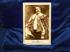 ENRICO CARUSO Opera Legend Cabinet Card Photo AUTOGRAPH 1907 Vintage CDV RP