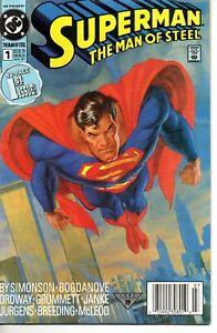 Superman the Man of Steel 1 DC 1991