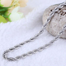 """Womens/ Mens Fashion Jewelry Silver 925 Rope Chain Jewelry 16""""  Necklace 7-6"""