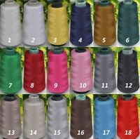 18 Color Wholesale 3000 Yards Quality Sewing Machine Polyester Thread Cones