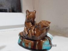 Fox Red Foxes URSS, figurilla de porcelana de cerámica de cerámica rusa 25m sdu