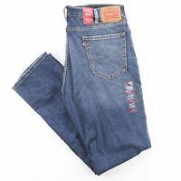 LEVI'S 514 Stretch Blue Denim Slim Straight Jeans Mens W38 L34