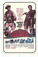 THE HILLS RUN RED Movie POSTER 27x40 Thomas Hunter Henry Silva Dan Duryea