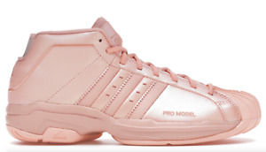 A-09  Adidas Pro Model 2G Glow Pink Basketball Shoes For Men Size 12  $  13.5
