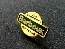 A BRAND NEW LIMITED EDITION BARBOUR 125 YEARS ANNIVERSARY BADGE .