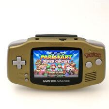 Gold Nintendo GBA Game Boy Advance Game Console with iPS Backlight LCD MOD
