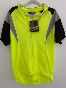 Pearl Izumi Podium Jersey Mens Sz Large Multicolor Neon Yellow Lime Short Sleeve