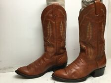 VTG WOMENS LARRY MAHAN COWBOY BROWN BOOTS SIZE 7 B DEFECTS