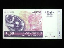 New listing Madagascar 1000 Ariary 2004 Malagasy 5000 Francs Unc 830# Banknote Money
