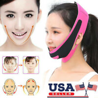 US V-Line Face Slim Lift Up Chin Facial Band Slimming Strap Belt Anti-Aging Mask