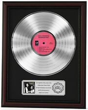"BUCKINGHAM NICKS PLATINUM LP RECORD FRAMED CHERRYWOOD DISPLAY ""C3"""