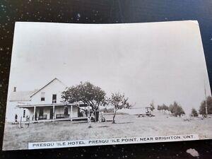 Vintage Presquile Hotel Brighton Ontario Canada RPPC Photo Postcard