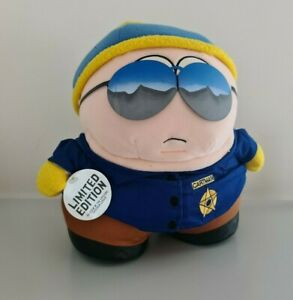 """South Park Cartman Police Officer Cop 11"""" Plush Limited Edition With Tags 1998"""