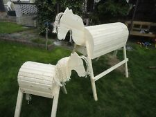 2 Stück Holzpferd Voltigierpferd Holzpony Pferd Pony