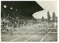 France Paris 400 mètres Haies Luigi Facelli Vintage Print Tirage argentique