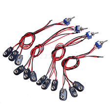 4 pack 18 Volt Mod Guitar Harness For EMG Pickup w/Mini Switch- 9V-Off-18V